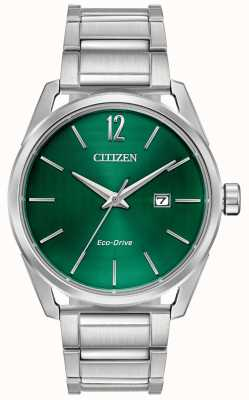 Citizen 男士生态驱动金属手链绿色表盘 BM7410-51X