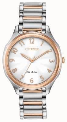Citizen 女士环保型两音金属手链 EM0756-53A