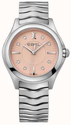 EBEL 波浪形不锈钢表链粉色表盘 1216303