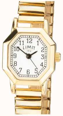 Limit |女式金色可扩展手链|白色表盘| 6498