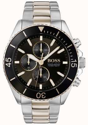 Boss |男装海洋版|双色不锈钢|黑色表盘 1513705