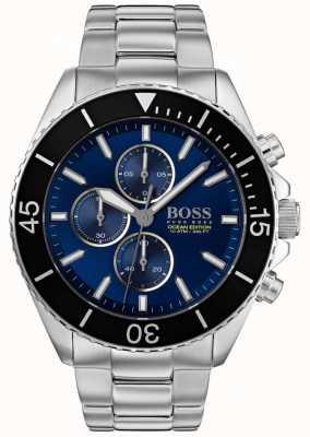 Hugo Boss |男装海洋版|银色不锈钢|蓝色表盘| 1513704