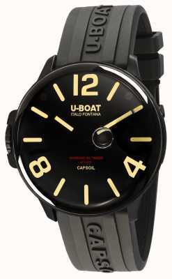 U-Boat Capsoil DLC机电黑色橡胶表带 8108/A