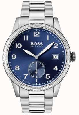 Boss  男士遗产手表 不锈钢 蓝色表盘  1513707