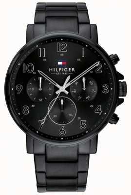 Tommy Hilfiger |男士黑色丹尼尔手表ip完成| 1710383