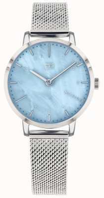 Tommy Hilfiger |女士百合手表|不锈钢网|蓝色表盘| 1782041