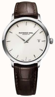 Raymond Weil |男士棕色皮革toccata手表| 5488-STC-40001