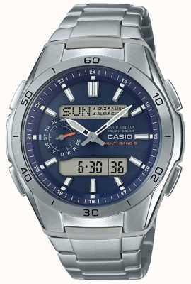Casio |男士无线电控制|钛制计时手表| WVA-M650TD-2A2ER