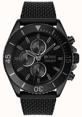Boss |男装海洋版|黑色表盘|黑色表带| 1513699