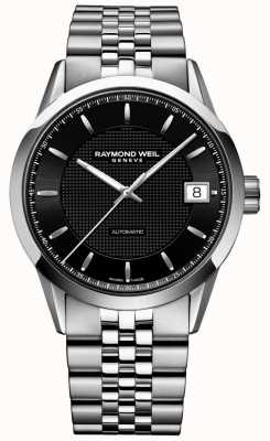 Raymond Weil |男士自由职业者自动|黑色表盘|不锈钢| 2740-ST-20021