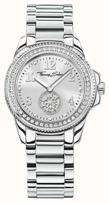 Thomas Sabo |女士华丽和灵魂不锈钢手表|银色表盘| WA0235-201-201-33