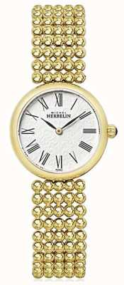 Michel Herbelin 女式27毫米镀金手链珍珠表盘 17483/BP08
