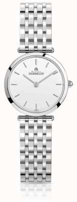 Michel Herbelin |女士| epsilon |不锈钢手链|白色表盘| 17116/B11