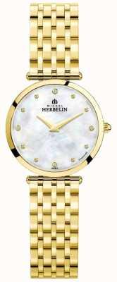 Michel Herbelin |女士| epsilon |珍珠贝母拨号|金手链| 17116/BP89