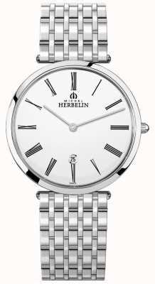Michel Herbelin 男士epsilon不锈钢手链白色表盘 19416/B01N