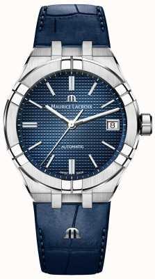 Maurice Lacroix Aikon自动蓝色表盘蓝色皮革表带 AI6007-SS001-430-1