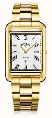 Rotary |男士镀金手链|白色表盘| GB05283/01