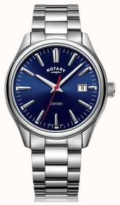 Rotary  男士不锈钢手链 蓝色表盘  GB05092/53