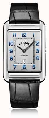 Rotary |男士黑色皮革日期| GS05280/70