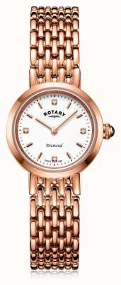 Rotary |女士玫瑰金手链| LB00901/70/D