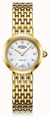 Rotary |女士金手链|珍珠贝母表盘 LB00900/41/D