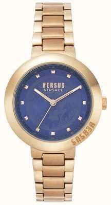 Versus Versace 女士玫瑰金手链|蓝色表盘| VSPLJ0819
