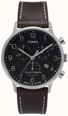 Timex |男士waterbury经典计时|黑色表盘| TW2T28200D7PF