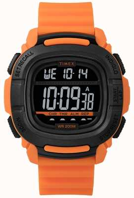 Timex |提升冲击橙色和黑色数字| TW5M26500SU