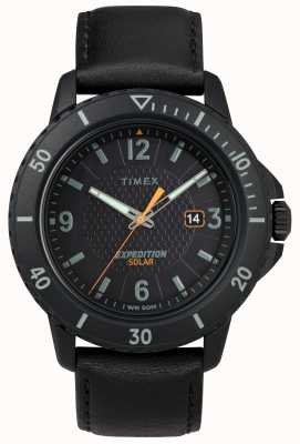 Timex | gallatin solar black leather |黑色表盘| TW4B14700D7PF