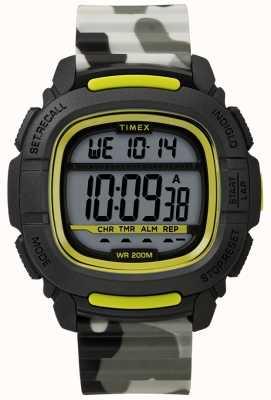 Timex |提升冲击黑/石灰/迷彩数码| TW5M26600SU