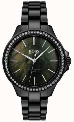 Boss |女士黑色不锈钢手表| 1502456