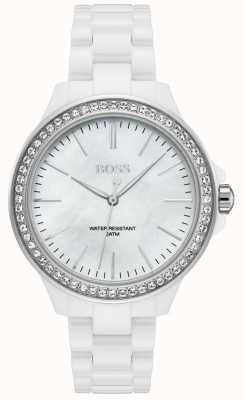 Boss |女士白色手链|白色表盘| 1502454