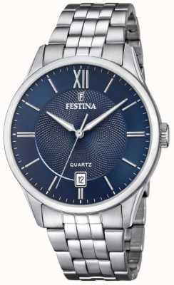 Festina |男士不锈钢手链|蓝色表盘| F20425/2