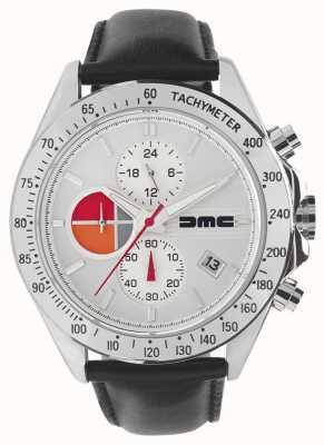DeLorean Motor Company Watches 1981银色皮革|银色表盘|黑色皮革| DMC-7