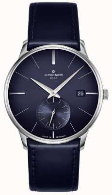 Junghans 迈斯特mega小秒针|蓝色皮革表带| 058/4901.00