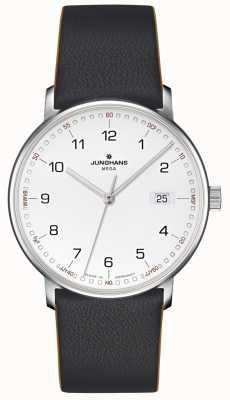 Junghans 形成巨型无线电遥控黑色皮革 058/4931.00