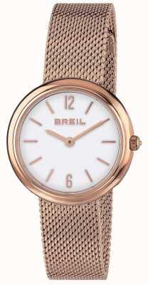 Breil |女士鸢尾花玫瑰金网眼带| TW1778