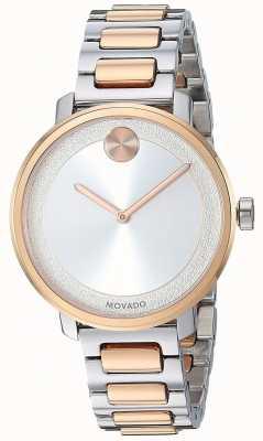 Movado 大胆 双色不锈钢表带  3600504
