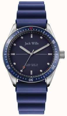 Jack Wills |男士磨湾|蓝色橡胶表带|蓝色表盘| JW015RBBL