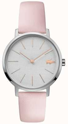 Lacoste |女式月亮|粉色皮革表带|银表盘| 2001070