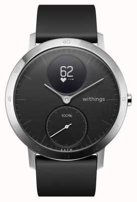 Withings 钢hr hr 40mm黑色硅胶表带 HWA03-40BLACK-ALL-INTER