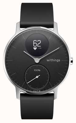 Withings 钢制hr 36mm黑色硅胶表带 HWA03-36BLACK-ALL-INTER