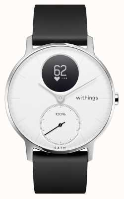 Withings 钢hr 36mm白色表盘黑色硅胶表带 HWA03-36WHITE-ALL-INTER