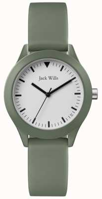 Jack Wills |女士灰色橡胶表带| JW008FGFG