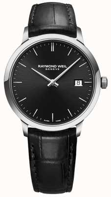 Raymond Weil |男士toccata黑色皮革|黑色表盘| 5485-STC-20001