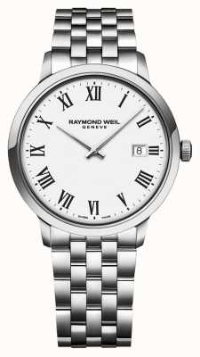 Raymond Weil |男士toccata不锈钢手链|白色表盘| 5485-ST-00300