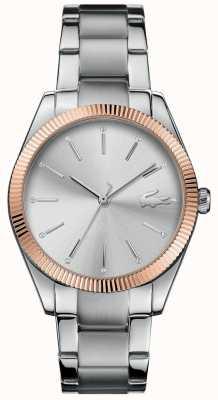 Lacoste 女式parisienne不锈钢表链银色表盘 2001082
