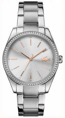 Lacoste 女式parisienne不锈钢表链银色表盘 2001083