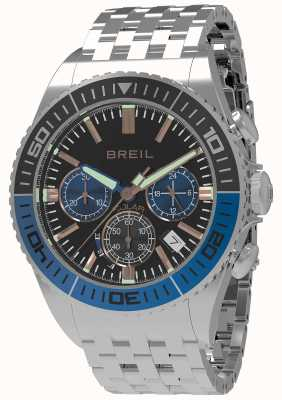 Breil |男士蝠1970 1970太阳能|黑色表盘|黑色/蓝色表圈| TW1820