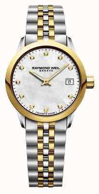 Raymond Weil 女士自由职业者钻石二音不锈钢 5626-STP-97081
